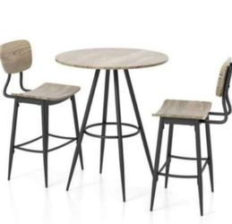 3 Pc Dining Table Set In Light Gray for Sale in Ontario,  CA