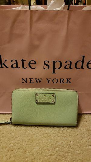Kate Spade Green Leather Wallet for Sale in Stockbridge, GA