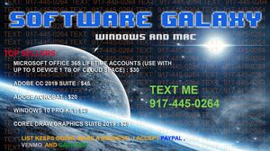 Software Sale Windows & Mac 10 for $100 ! for Sale in New York, NY