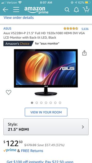 Gaming monitor for Sale in Belleville, IL