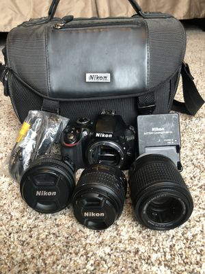 Nikon D3300 Camera with lenses for Sale in Lincoln, NE