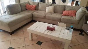 American Signature Grey Sectional Microfiber Sofa for Sale in Lutz, FL