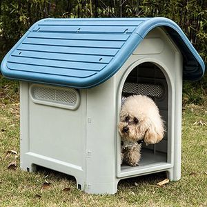 $45 (new in box) plastic dog house water resistant dog kennel for medium sized pets all weather 30x23x26 inches for Sale in Whittier, CA