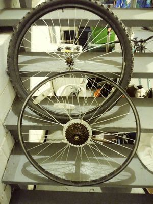 26-in front and back rim mountain bike wheel set for Sale in East Brunswick, NJ