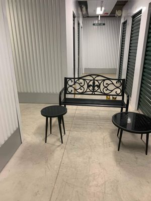 Bench and black glass table set for Sale in York, PA