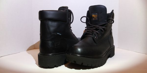 Sz-9M Timberland PRO Soft Toe Direct Attach 6 Inch Wheat / Black Leather Work Boots Waterproof Like New