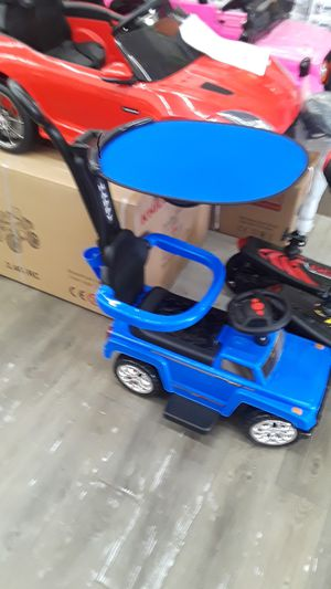 New baby kids stroller push car 3 in 1 walker ride on jeep suv car with music lights for Sale in Houston, TX