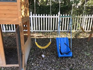 Swing set new 2018 Virginia Beach va area- not including blue swing, yes other 2 included for Sale in Virginia Beach, VA