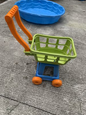 Kids toddler baby shopping cart play food activity toy for Sale in St. Petersburg, FL