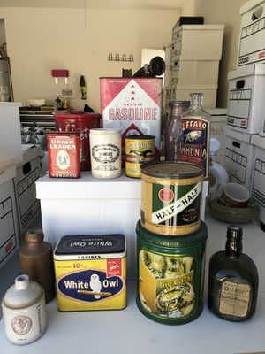 Antique Tins and Bottles for Sale in Wildomar, CA