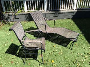 Rausch Outdoor Luxury Patio Furniture Teak & Metal Chaise & Chair for Sale in Los Angeles, CA