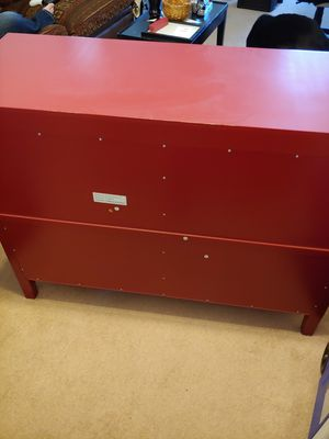 Red curio cabinet for Sale in Zanesville, OH