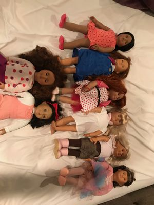 Our generation dolls. $10 each barely used. for Sale in Glendale, AZ