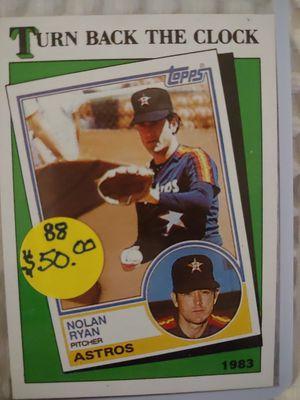 Nolan Ryan Astros Topps Baseball Card for Sale in Seattle, WA