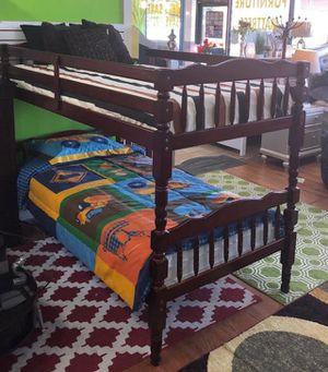 "Bunk bed elegance twin/ twin cherry "" mattress separate for Sale in Tucker, GA"