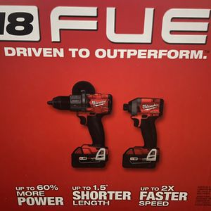 Milwaukee M18 FUEL Hammer Drill And Impact W/batteries for Sale in Springfield, TN