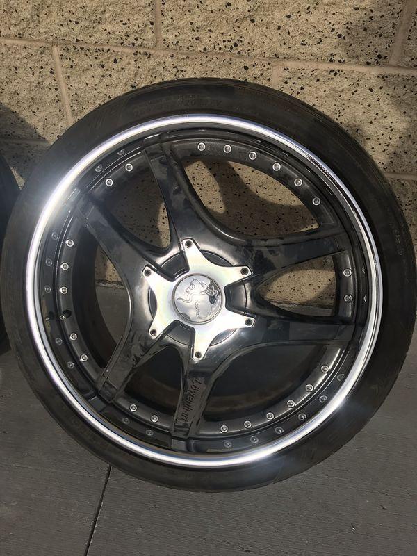 "20"" Löwenhart LSR 3pc staggered wheels & tires"