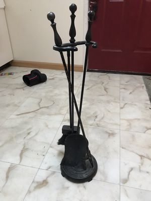 Free Used fireplace tool set for Sale in Entiat, WA