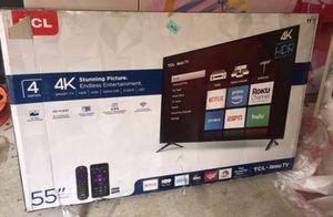 "55"" TCL roku smart 4K led uhd hdr tv for Sale in Las Vegas, NV"