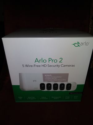 5 CAMERA 1080P ARLO PRO 2 BONUS EDITION + GOOGLE HOME MINI/ECHO DOT + 100FT cable - NEW for Sale in Beverly Hills, CA