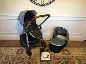 Blue UPPAbaby stroller , bassinet & Ganoosh for Sale in Ridgefield, CT