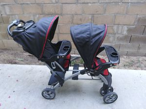 Baby trend sit n stand double stroller for Sale in Fresno, CA