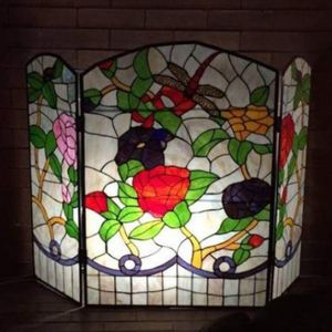 PRICE DROP!! Meyda Tiffany Stained Glass Fireplace Screen for Sale in Cleveland, OH