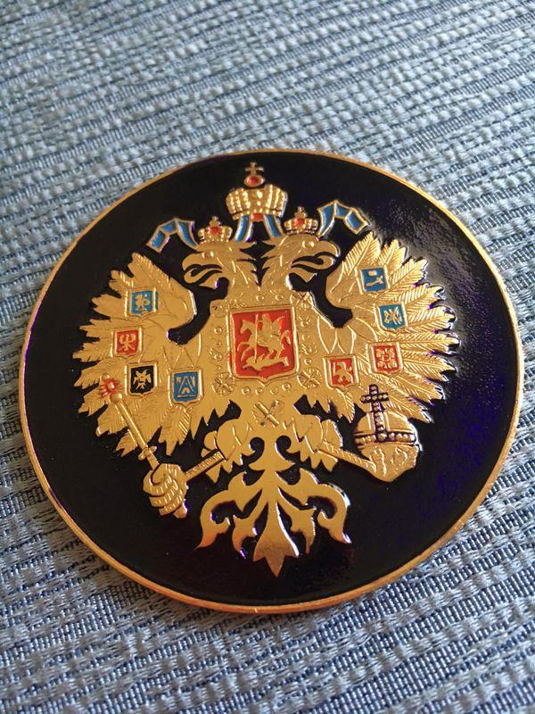 Beautiful Russian Double Eagle Medallion
