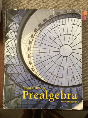 Tom Carson Pre algebra Fourth Edition. I don't have the code to do the homework online. for Sale in Chino, CA