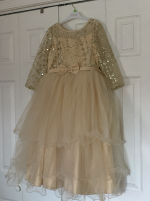 Gold Flower girl dress size 8 for Sale in Melrose Park, IL