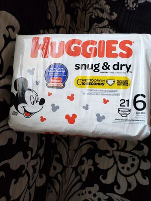 3 PACKAGES DIAPERS HUGGIES SNUG & DRY SIZE 6 for Sale in Adelphi, MD