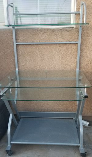 Glass Computer Table/Desk for Sale in Barstow, CA