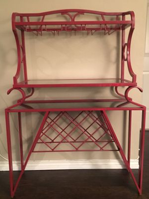 Bar & Wine Rack with 3 shelves for Sale in Austin, TX