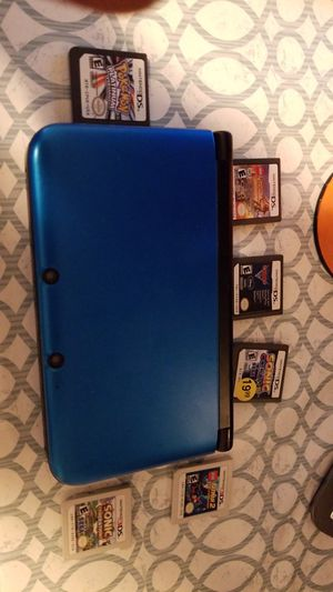 Blue Nintendo 3DS XL PLUS 6 extra games for Sale in Belmont, MA