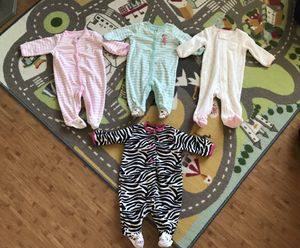 3 Month Baby Girl Sleepers (4) for Sale in Chula Vista, CA