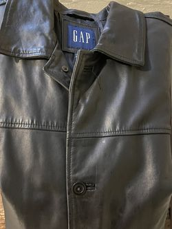 Men's Black Leather Jacket From Gap (L) for Sale in Hermitage,  TN