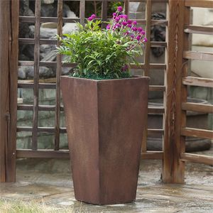 "New 24"" Classic Bronze Tall Angled Flower Planter Pot for Sale in Beverly Hills, CA"