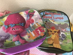 Kids lunch bags - Trolls and Lion Guard for Sale in Fort Worth, TX