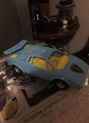 Vintage plastic tootsie Lamborghini baby blue and yellow rare for Sale in Sweet Home, OR