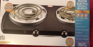 Double electric coii burner stove new $30.00 for Sale in Los Angeles, CA