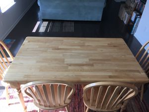Solid Maple Table and Chairs for Sale in Spring Hill, TN