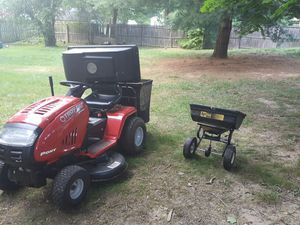 Troy built tractor, good condition, just serviced with bagger and speader for Sale in Laurel, MD