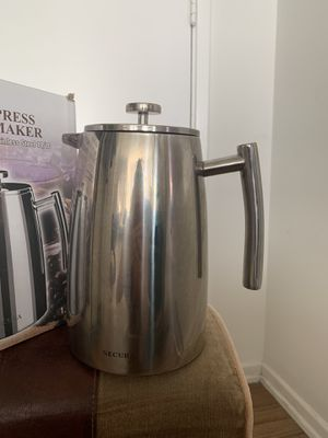 ecura 1500ML French Press Coffee Maker, 50-Ounce, Stainless Steel 18/10 SFP-50DSC, Extra Stainless Steel Screen for Sale in Los Angeles, CA