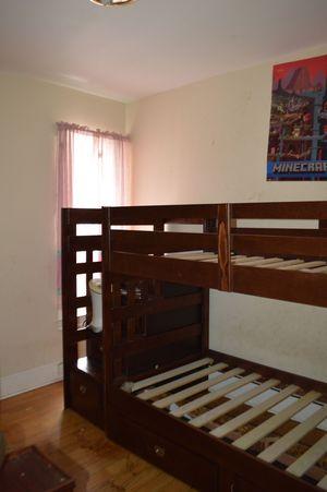 Kids wood bunk bed unit for Sale in Philadelphia, PA