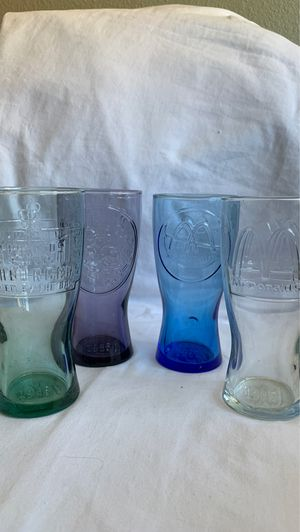 McDonald's Glass Year Collection Cups Set of 4 for Sale in Las Vegas, NV