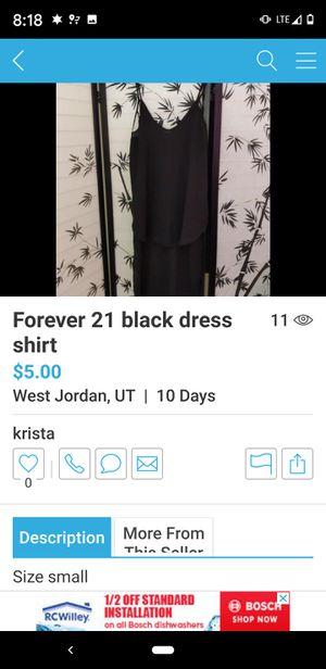 FOREVER 21 black silk dress shirt/slip for Sale in West Jordan, UT
