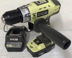 """RYOBI 18V Cordless 1/2"""" Hammer Drill Kit battery & Charger Model # P214 for Sale in St. Petersburg, FL"""