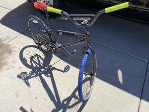 26 in bmx bike custom tires and grips redline pads for Sale in Peoria, AZ