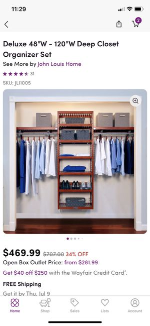 Closet organizing system- redwood color for Sale in Long Beach, CA