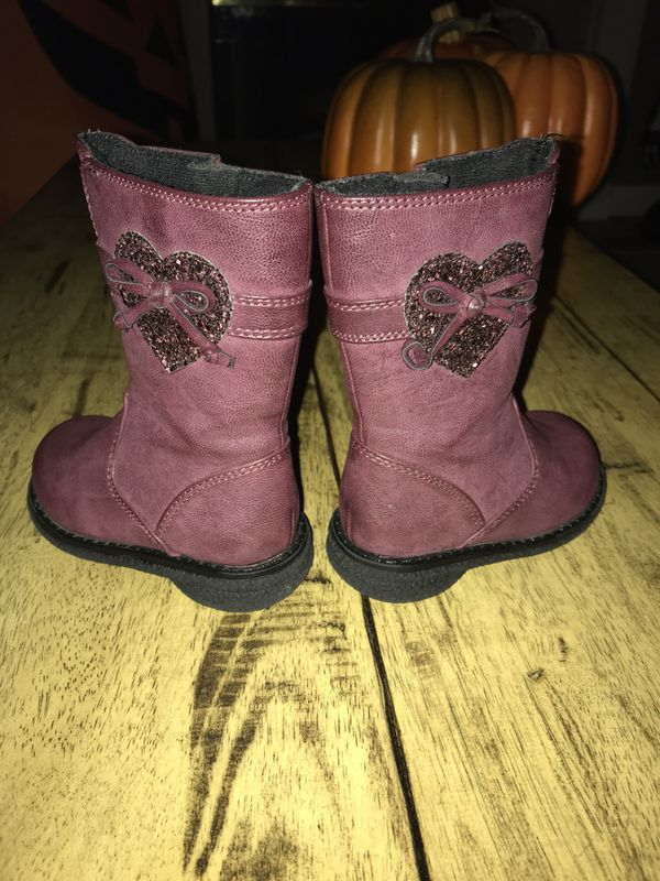 Toddler Girl Size 6 faux leather boots